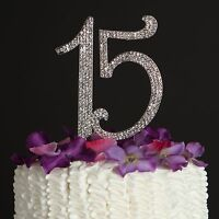 15 Birthday Cake Topper - 15th Quinceanera Party Decoration