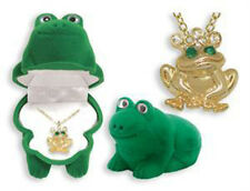 CHILD'S FROG NECKLACE IN MATCHING BOX (BN005)