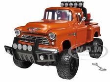 1955 CHEVROLET 5100 STEPSIDE PICKUP TRUCK OFF ROAD ORANGE 1/24 BY MOTORMAX 79133