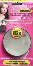 Magnifying Mirror 15x Magnification Close Eye Makeup Cosmetic Eyebrow Suction