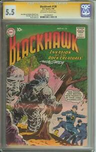 BLACKHAWK #138 SS CGC 5.5 SIGNED BY NICK CARDY