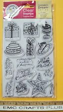 HAPPY BIRTHDAY CLEAR STAMP SET ~MAKE A WISH~CAKE~by SCRAPPY CAT