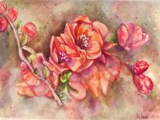 Aquarelle fleurs, signée, dimensions: 23/34 cm