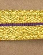 Braid RCMP Gold/Purple/Gold 16mm R738