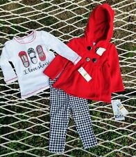 NWT Adorable Baby Girls 3 Piece Jacket, Leggings, & Shirt So Cute Set 12 Mos