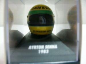 WOW EXTREMELY RARE Helmet Senna 1983 Bell Ralt RT3 Champion F3 1:8 Minichamps