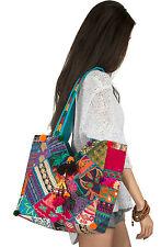 Unique Women Boho Colorful Tote Shoulder Bag Tassel Handbag Top Handle Beach