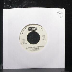 "Tyrone Davis - All The Waiting Is Not In Vain 7"" Mint- Promo Vinyl 45-609 Dakar"