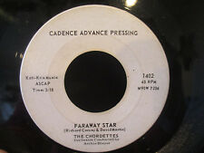 The Chordettes PROMO 45 'Never On Sunday / Faraway Star'