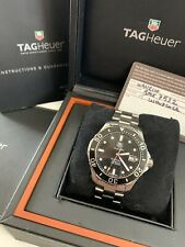 GENTS TAG HEUER AQUARACER CALIBRE 5 WATCH SERVICED BOX & PAPERS WAN2110 2014