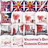 1/2/4 Pcs Valentine's Day Velvet Square Throw Pillow Cases Waist Cushion Cover