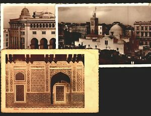Building Mosque Religious Islam Lot of 5 original postcard India Algeria Morocco
