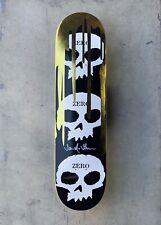 Zero Gold '3-skull w Blood' Deck Signed by Jamie Thomas