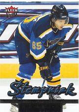 05/06 Fleer Ultra Rookie RC Lee Stempniak 245 Blues