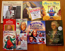 Lot 9 BENJAMIN FRANKLIN Picture & Chapter Books Landmark experiments almanac L1