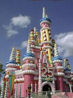 PROP Walt Disney World 25th Anniversary Cake Castle Blow Up Piece RARE LAST ONES