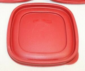 "Rubbermaid Easy Find Replacement 7J64 Red Lid 6 1/2"" Food Container Clean! Tight"