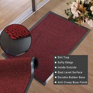 Red Barrier Mat Door Rubber Mat Rug PVC Edged Runner Heavy Duty Kitchen Mat