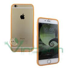 Pellicola+BUMPER ARANCIONE trasparente per iPhone 6 6S cover custodia protezione