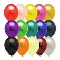 Pack of 100 Metallic Latex Party Balloons (Blue, Pink, Red, Yellow, Green etc)