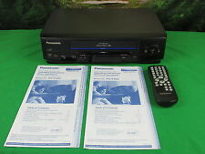 Panasonic PV-V402 Omnivision VCR VHS Cassette Player Recorder +Instructions