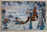 Winter Motiv Stickpackung Stickbild Bild sticken Perlen Handarbeit Kreativ 327