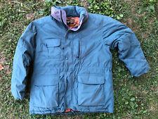 VTG Eddie Bauer Ridge Line Men's Green Down Winter Jacket Size XL made in USA