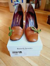Russell & Bromley Damas Bronceado De Cuero Zapatos Talla 7 (40)