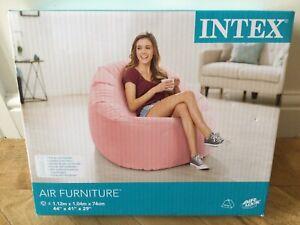 Intex Beanless Bag Chair Air Furniture Light Baby Pink NEW