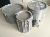 Warhammer War Game Chemical Storage Tanks Vats D+D Scenery Hides 3d Printed