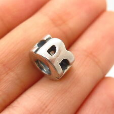 """925 Sterling Silver Chamilia Letter """"R"""" Initial Design Bead Charm"""