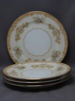 VINTAGE NORITAKE pattern 1930's?, SET of 4 BREAD PLATES EXCELLENT CONDITION