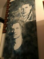 Imalive you are not alone J2 signed canvas Supernatural