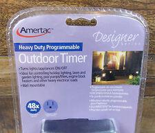 AMERTAC DESIGNER SERIES HEAVY DUTY PROGRAMMABLE OUTDOOR TIMER TM12DOLBL