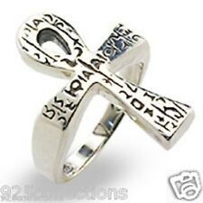 25x17 mm 925 Sterling Silver High Polished No Stone Cross Lady Ring Size 6