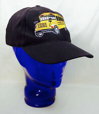 Yellow School Bus Baseball Cap Att Headware Brass Slider Buckle Unisex