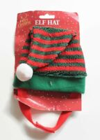 Pet Christmas Elf Hat with Pom Pom For Dogs & Cats Xmas Pet Outfit Perfect Gift