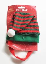 Christmas Pet Elf Hat with Pom Pom For Dogs & Cats Xmas Pet Outfit Perfect Gift