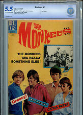 The Monkees #1 Dell CBCS 5.5 1967 Photo Cover of the Group