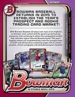 2 SET LOT 2015 BOWMAN VETERANS BASE ( PAPER )  w RCs PEDERSON FRANCO BAEZ TAYLOR