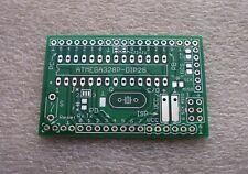 3x Platine für ATMEGA328P-PU im DIP28-Gehäuse (ohne Bauteile) FR4 HALbf Grün