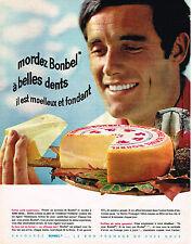 PUBLICITE ADVERTISING 104  1963  BONBEL  fromage  mordant et fondant