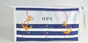 OPI NAUTICAL CHIC ZIPPERED SALON BAG WITH PEDICURE ESSENTIALS NAIL POLISH 57SRH2