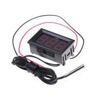 Rotes DC12V Digital-Thermometer mit Temperaturfühler -50 ~ 110C Temperatur WH