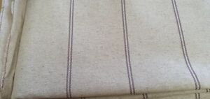 ART OF THE LOOM GALWAY STRIPE HEATHER LINEN UPHOLSTERY FABRIC 700cm X 137cm