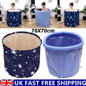 70X70cm Portable Bathtub Folding Bath Tub Adult Spa Soaking Water Barrel Bucket