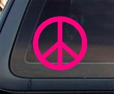 Peace Sign Car Decal / Sticker - Hot Pink