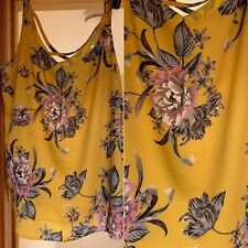 Dorothy Perkins Size 24 Curve Range Yellow Floral Cami Vest Top