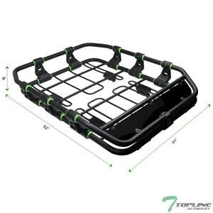 Topline For Nissan Modular HD Roof Rack Basket Storage+Wind Fairing - Matte Blk