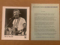 Willie Nelson 1978 ORIGINAL Columbia Records 4 Page Biography & 8x10 Press Photo